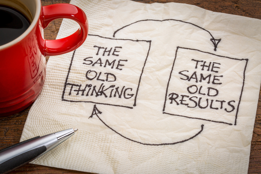 "Foto: ""thinking and results feedback loop"" © Marek 