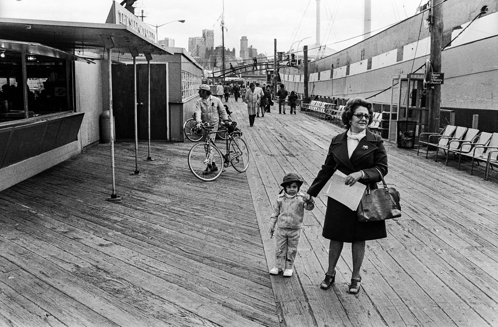 Mother and Son, South Street Seaport, 1975