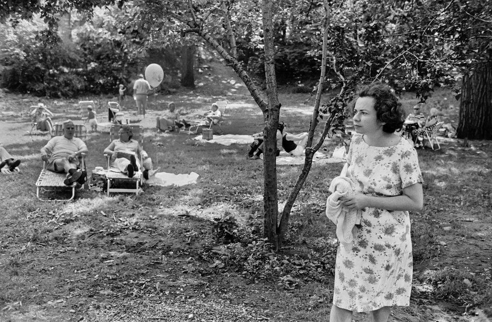 Woman Waiting at Concert, Forest Park, Queens, NY, 1975