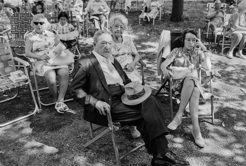 Seated at Concert, Forest Park, Queens, NY, 1975