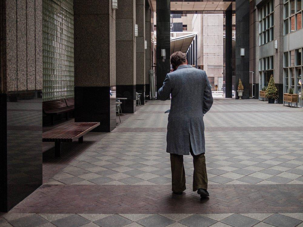 Man on Phone, NYC, 2014