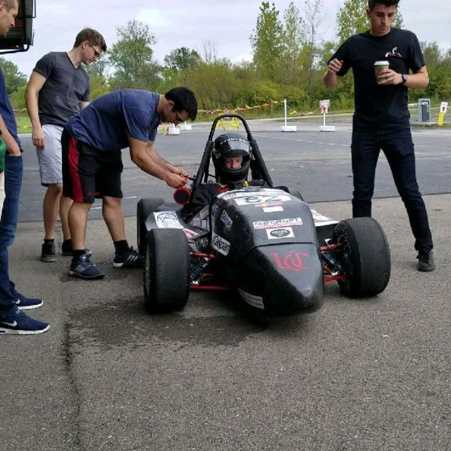 We got last year's car running and out for some fresh air, great learning experience for the team!  #fsae #bearcat #motorsports #uc