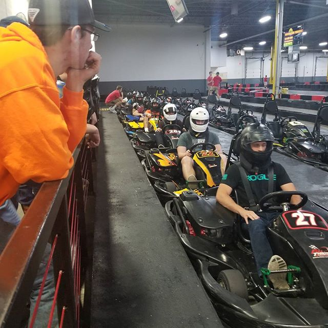 Laying down some serious lap times #fullthrottle #gokart #racecar