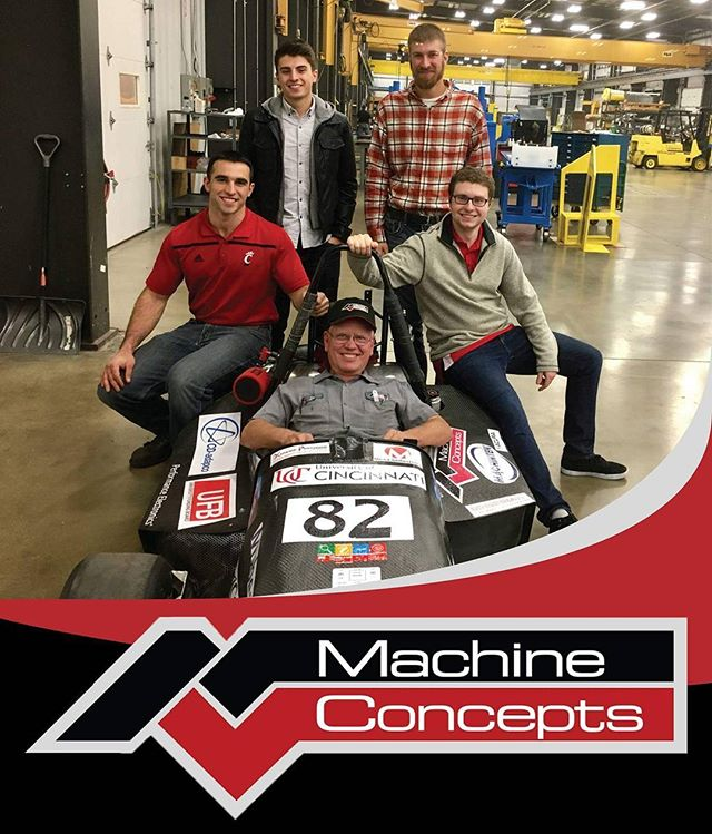 Great visit out to Machine Concepts, a sponsor for the 2017-18 Team. Looking forward to a successful year working together!  #motorsports #sponsor #fsae #racecar