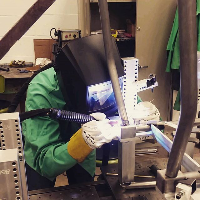 Gettin' that #racecar frame welded together