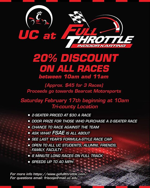 #UC at #fullthrottle, see you there
