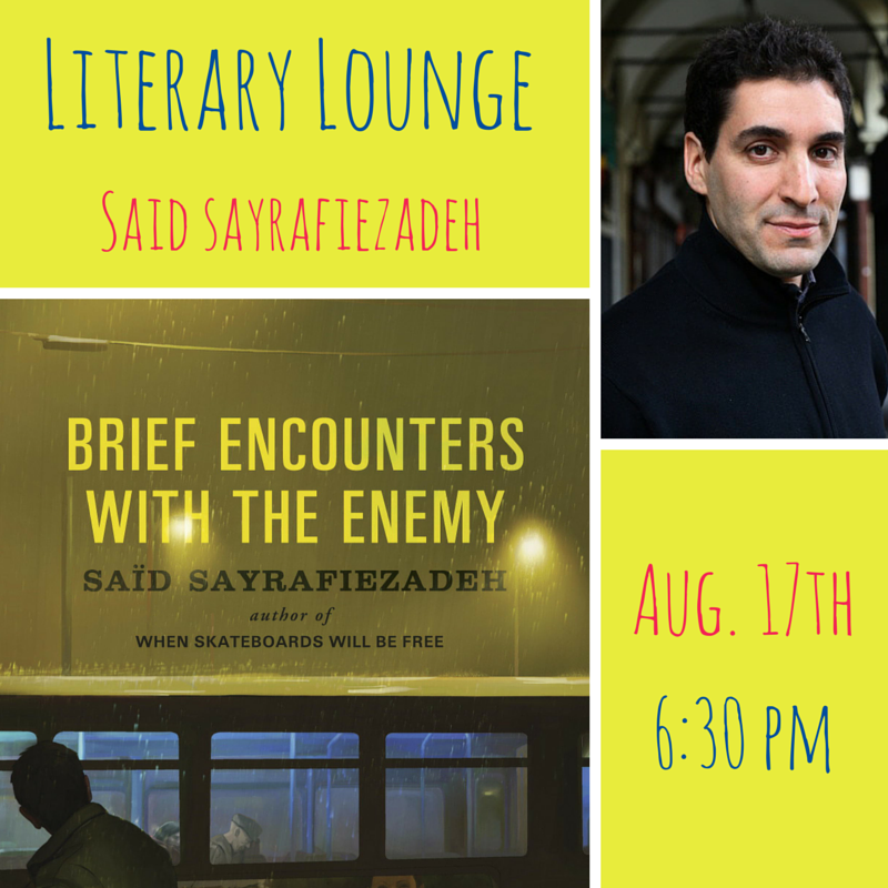 One more week to catch Said Sayrafiezadeh's excerpt on our website!   Join us Monday, August 17, to hear Said share and discuss his work, with Riverside Park as our backdrop! More info  here