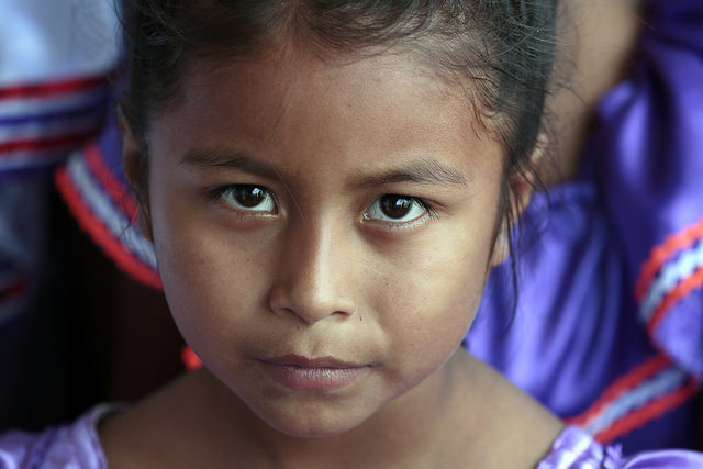 A young girl in Santa Rita, a rural indigenous community in Bolivia. (United Nations Photo/Evan Schneider)