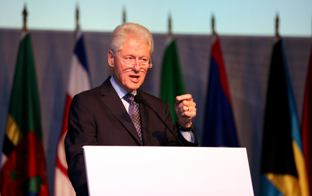 Former president Bill Clinton spoke at the inauguration ceremony for the Civil Society Forum on Wednesday. (Credit: Cumbre Panamá)