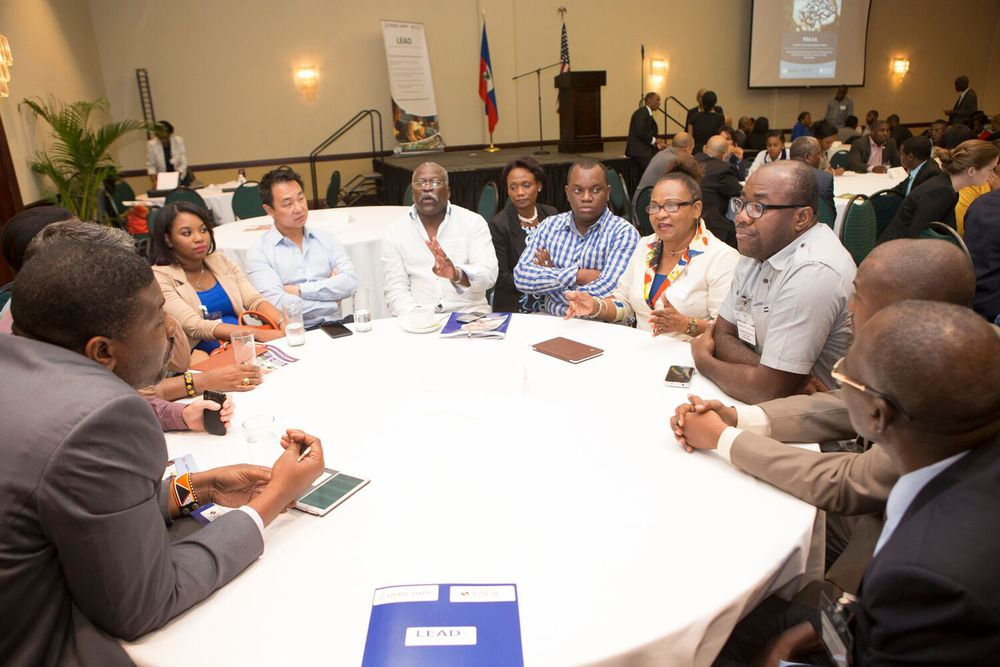 This roundtable at the B2B matchmaking session focused on agriculture.