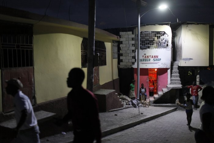 In the Delmas 32 neighborhood, minor improvements such as installing new solar street lights have dramatically increased quality of life and safety. (Dominic Chavez/World Bank)