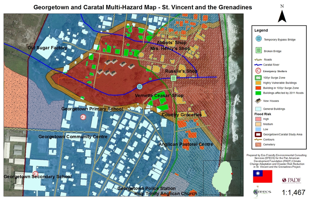 What is a Hazard Map St Vincent and the Grenadines Youth Explain