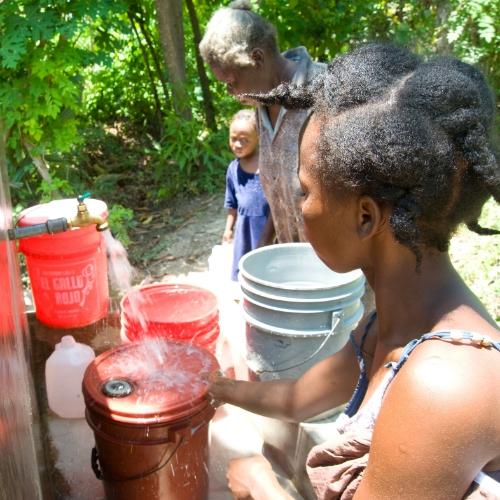 Install a community water point