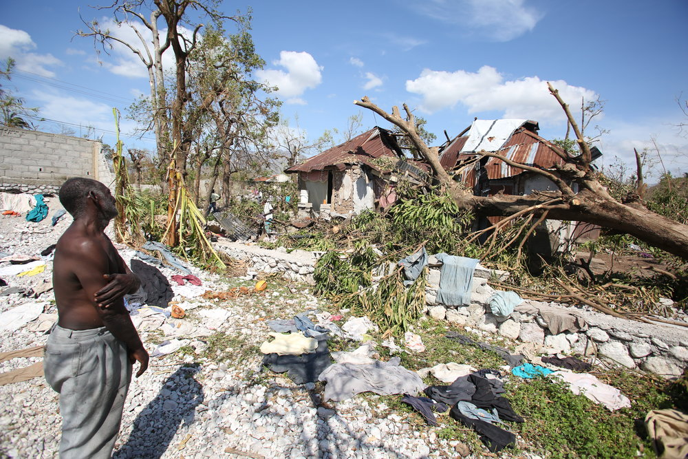 Joseph St. Fort lost everything when Hurricane Matthew ripped through the town of Ca  mp Perrin, southwest Haiti. (Jeanty Junior Augustin)