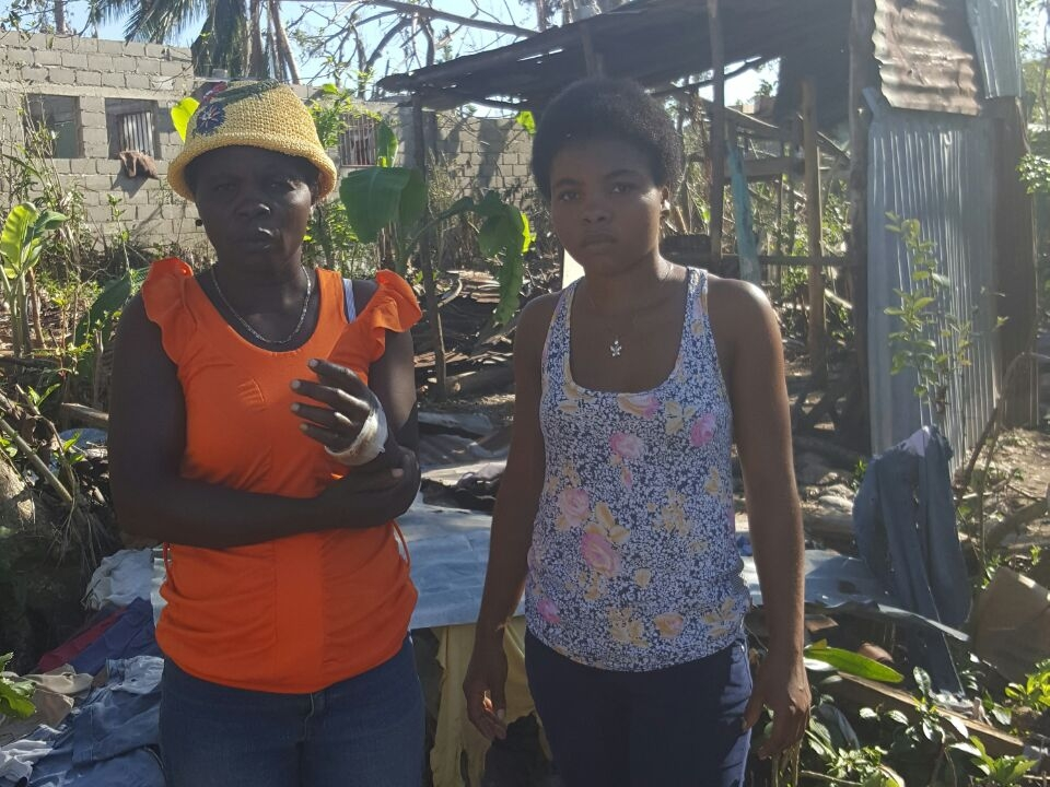 Marie lost her home and injured her hand as a result of Hurricane Matthew.