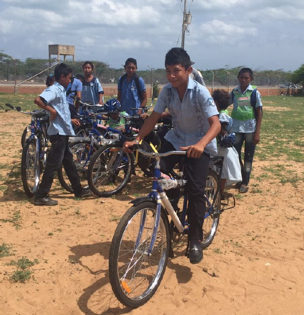 Bike delivery in La Guajira.