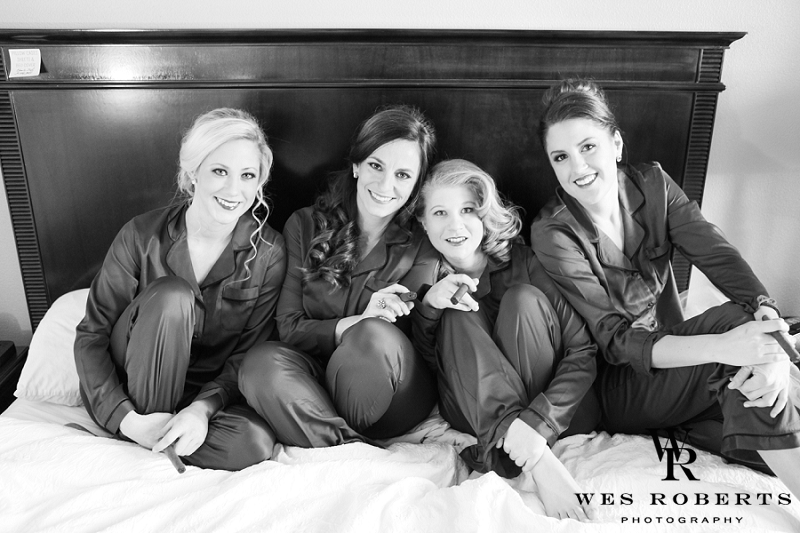 Whitlee wanted her bridesmaids hair to fit their personality. It was so much fun getting to create hair for the person and not just another up style. And I must say they are all stunning!!!   Photography by:  Wes Roberts Photography