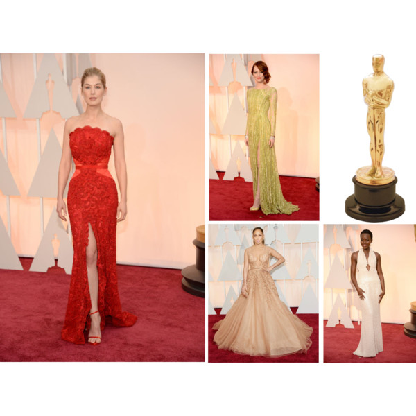 The Oscar fashion last night did not disappoint! There was so many beautiful gowns, hair and makeup it was hard to narrow down to my top picks. But I did! My absolute favorite is Rosamund Pike in a luscious red Givenchy gown. Emma Stone look stunning from head to toe in a backless Elie Saab dress. Jennifer Lopez also wore Elie Saab, her skin tone plunging neckline ball gown was perfection. My favorite fashion risk of the evening is Lupita Nyong'o in Calvin Klein. The fit of the pearl structure was breathe taking against her skin tone. Tell me your favorite!