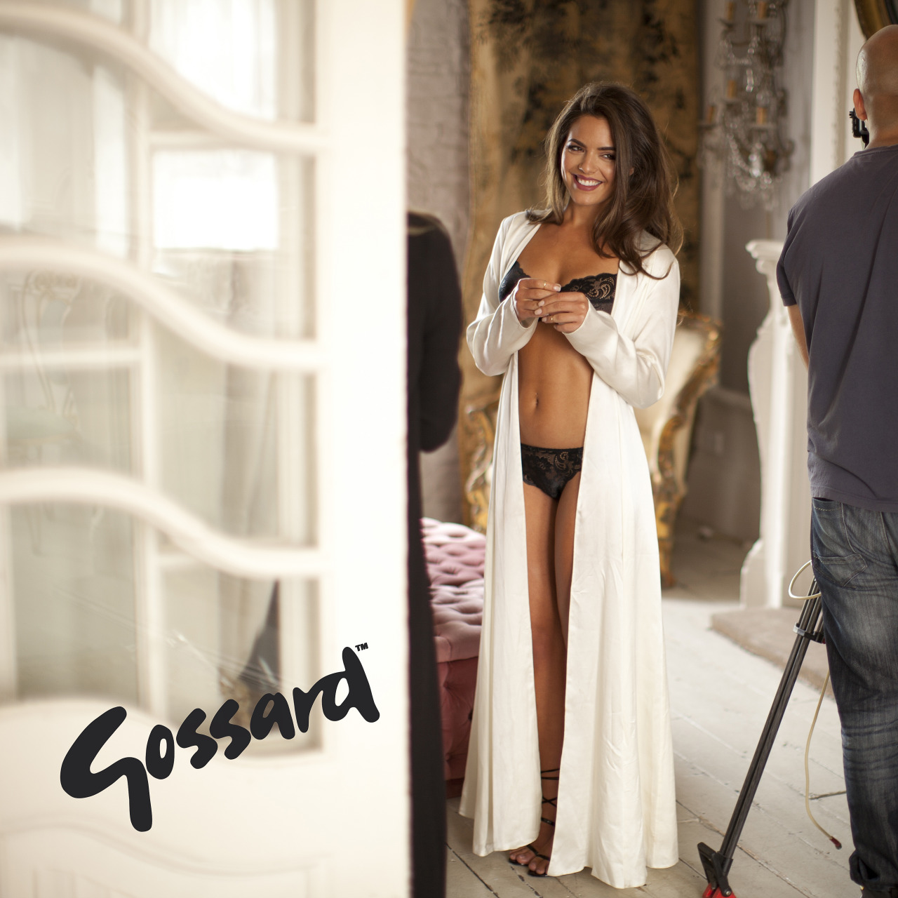 Just shot the new Gossard campaign with stunning actress @OlympiaValance