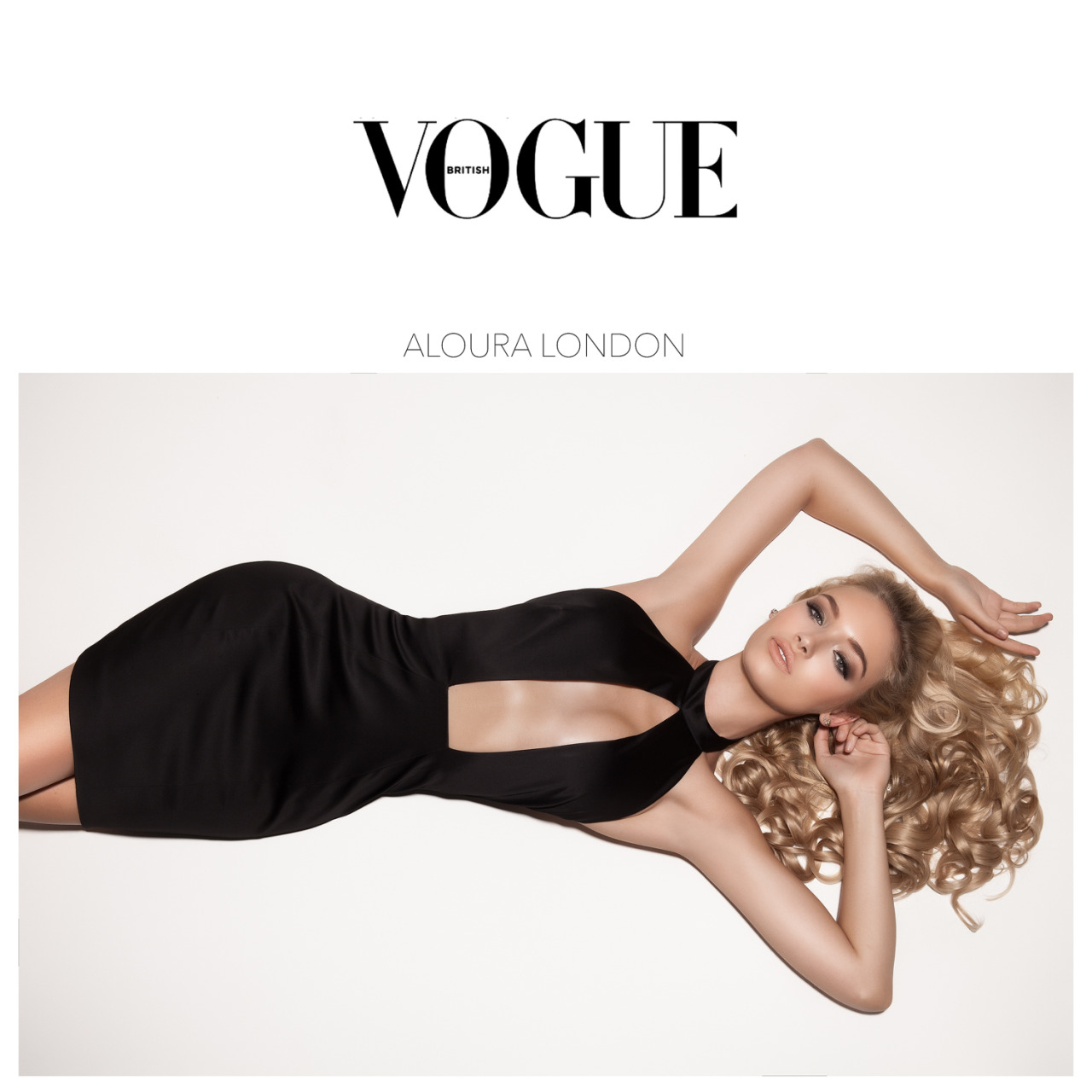 British Vogue - September Issue 2015 with Roxy Horner and Aloura London.
