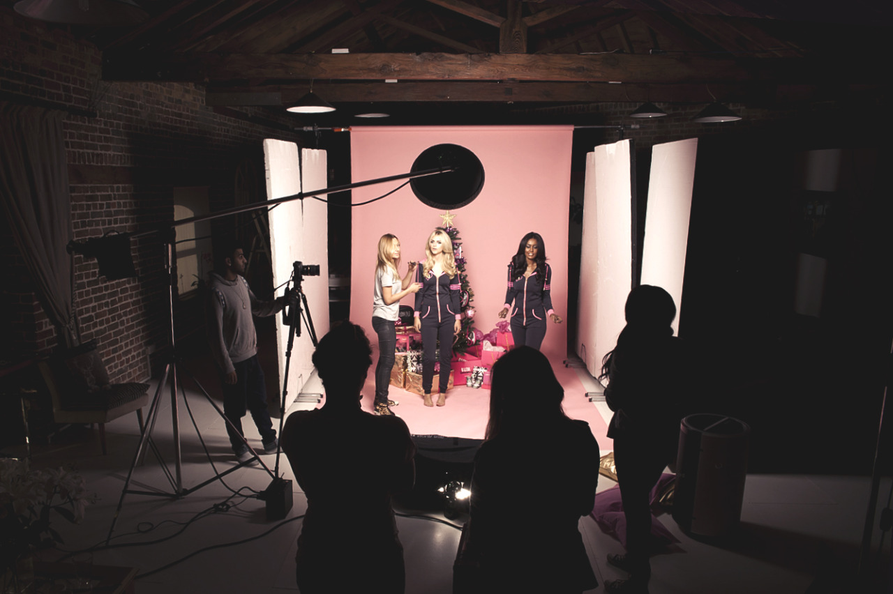 BTS shooting the Celeb Boutique Christmas Campaign this week…