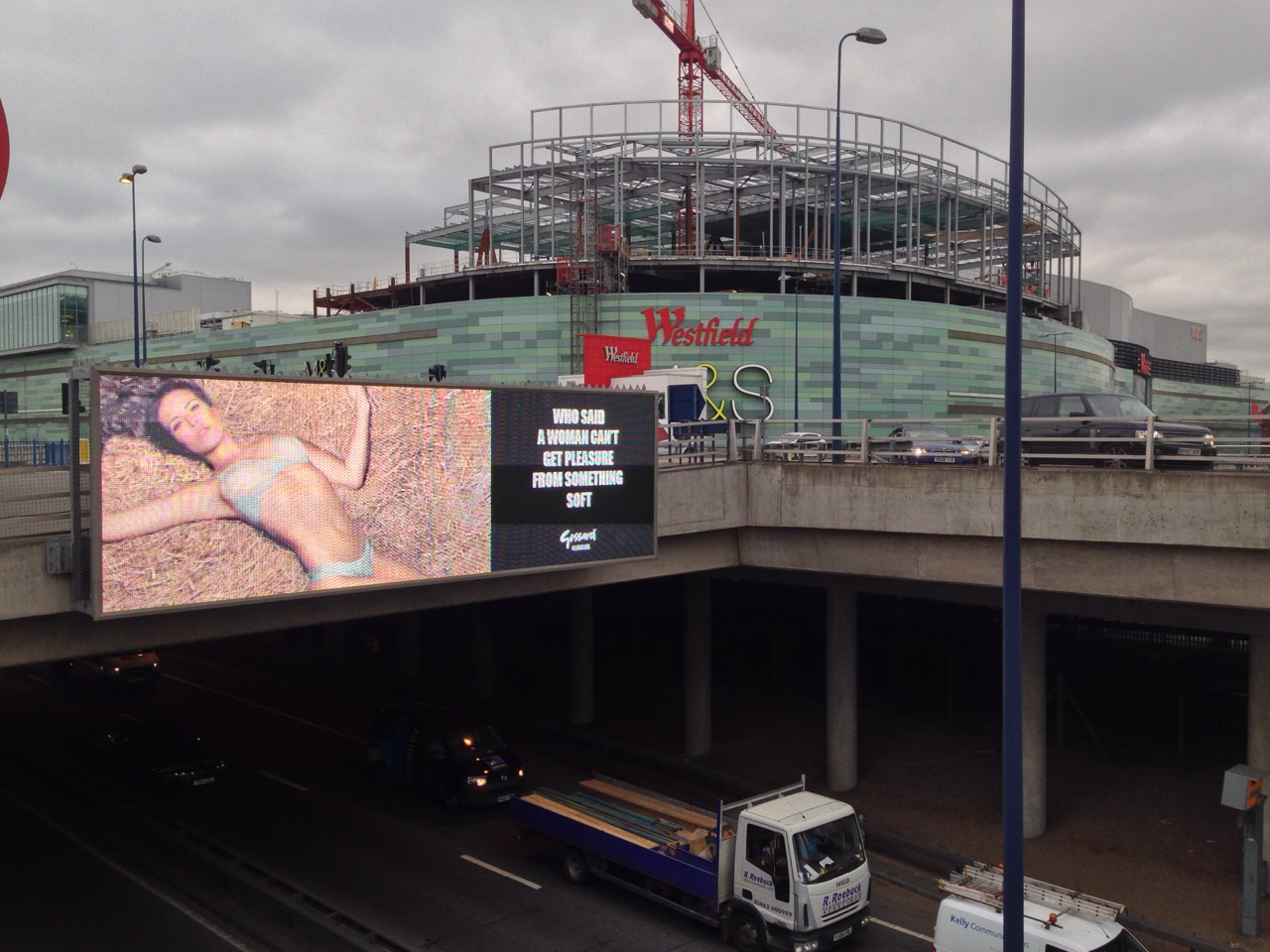 My Gossard UK billboard outside Westfield London shopping centre.