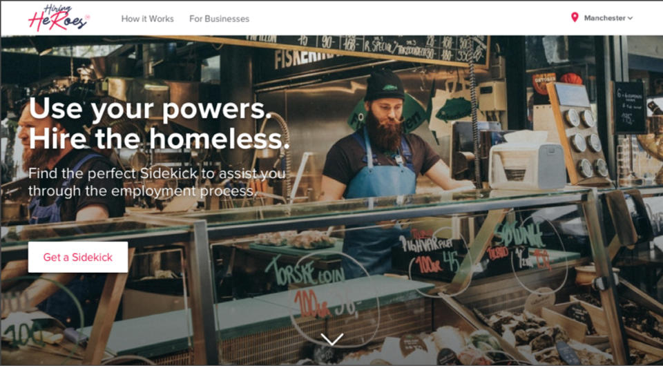 Figure 9. Hiring Heroes – Home Page, d.Licious
