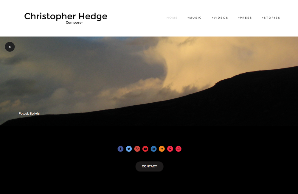 Front page of christopherhedge.com