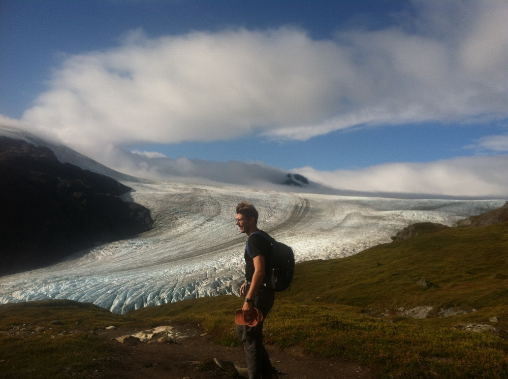 Me and the Harding Ice Field, near Seward, AK.