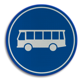 F13 -Rijbaan of -strook bussen