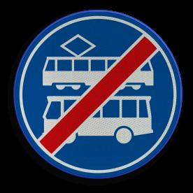 F18 - Einde rijbaan of -strook bus en tram