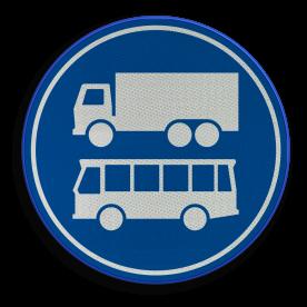 F19 - Rijbaan of -strook bus en vrachtverkeer