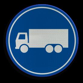 F21 - Rijbaan of -strook vrachtverkeer