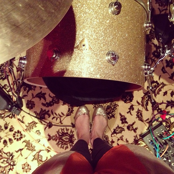 My shoes match Gavin's drums. #sangster #humanbecoming