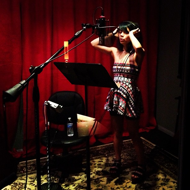 Tracking oodles of background vocals with Ms. Knower herself, Genevieve Artadi today! #sangster #humanbecoming