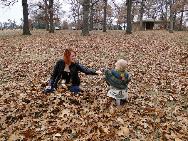 Leaves with Rio , a gallery on Flickr. Yesterday in Tulsa at Woodward Park with my sister, Briana and niece, Rio. Photos by  worldlygirly