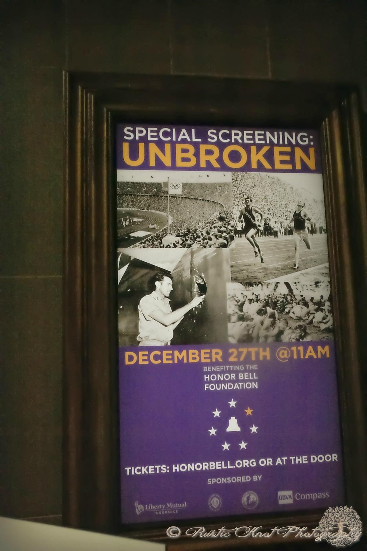 Unbroken title poster