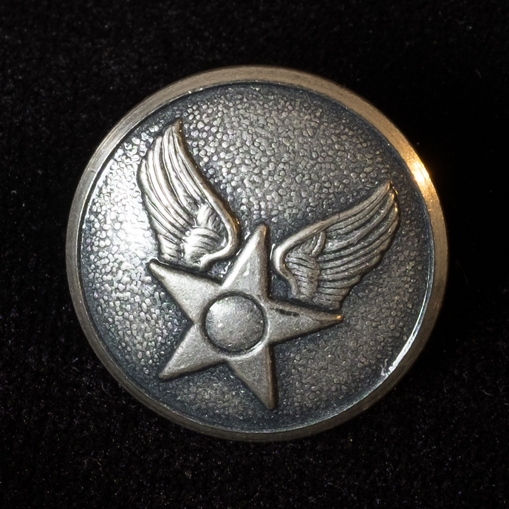 A button from Melcher's Air Force Uniform