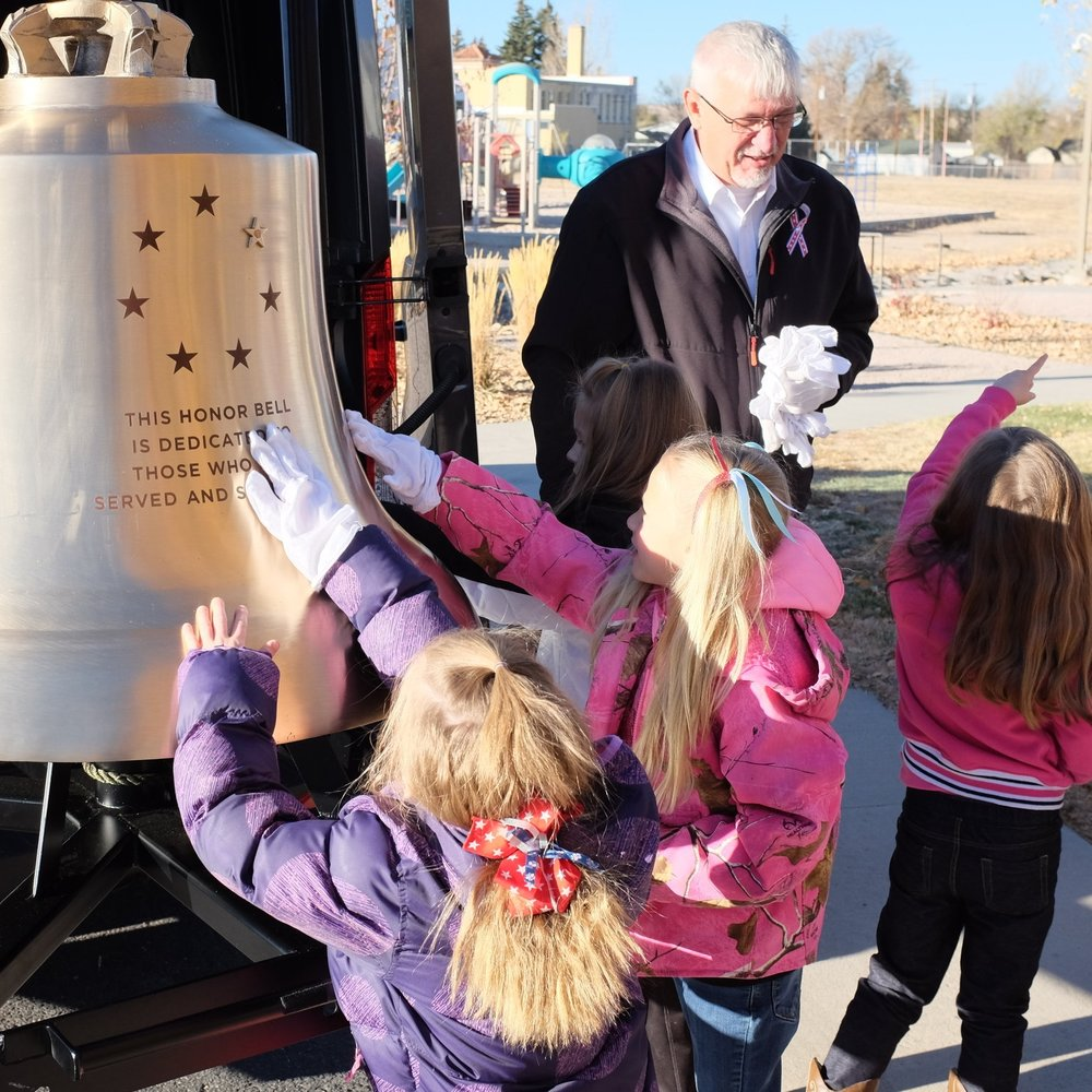 Outgoing Director of Bell Honors Dave Marchand, at an education outreach event at Kiowa Elementary School last November.