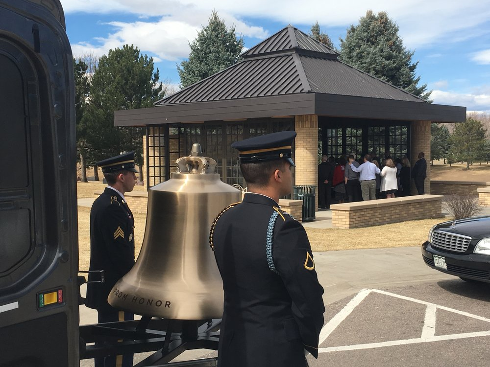 Soldiers from the US Army assist with Bell Honors at a recent funeral