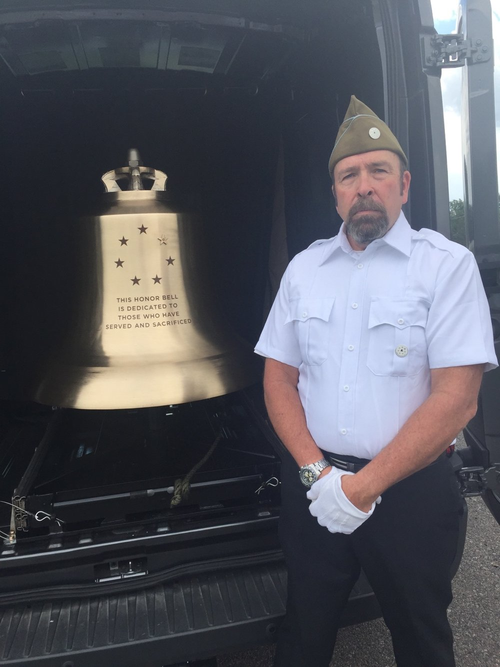 The Honor Bell is tolled exclusively by veteran volunteers