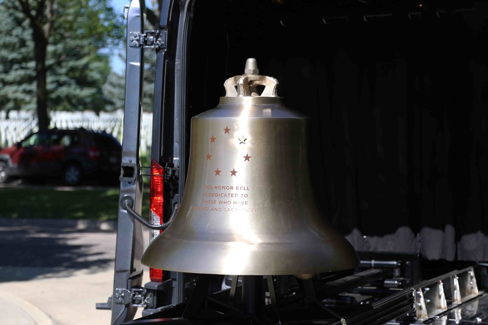 the Honor Bell at Fort Logan National Cemetery. Photo courtesy of Erick Stowe.