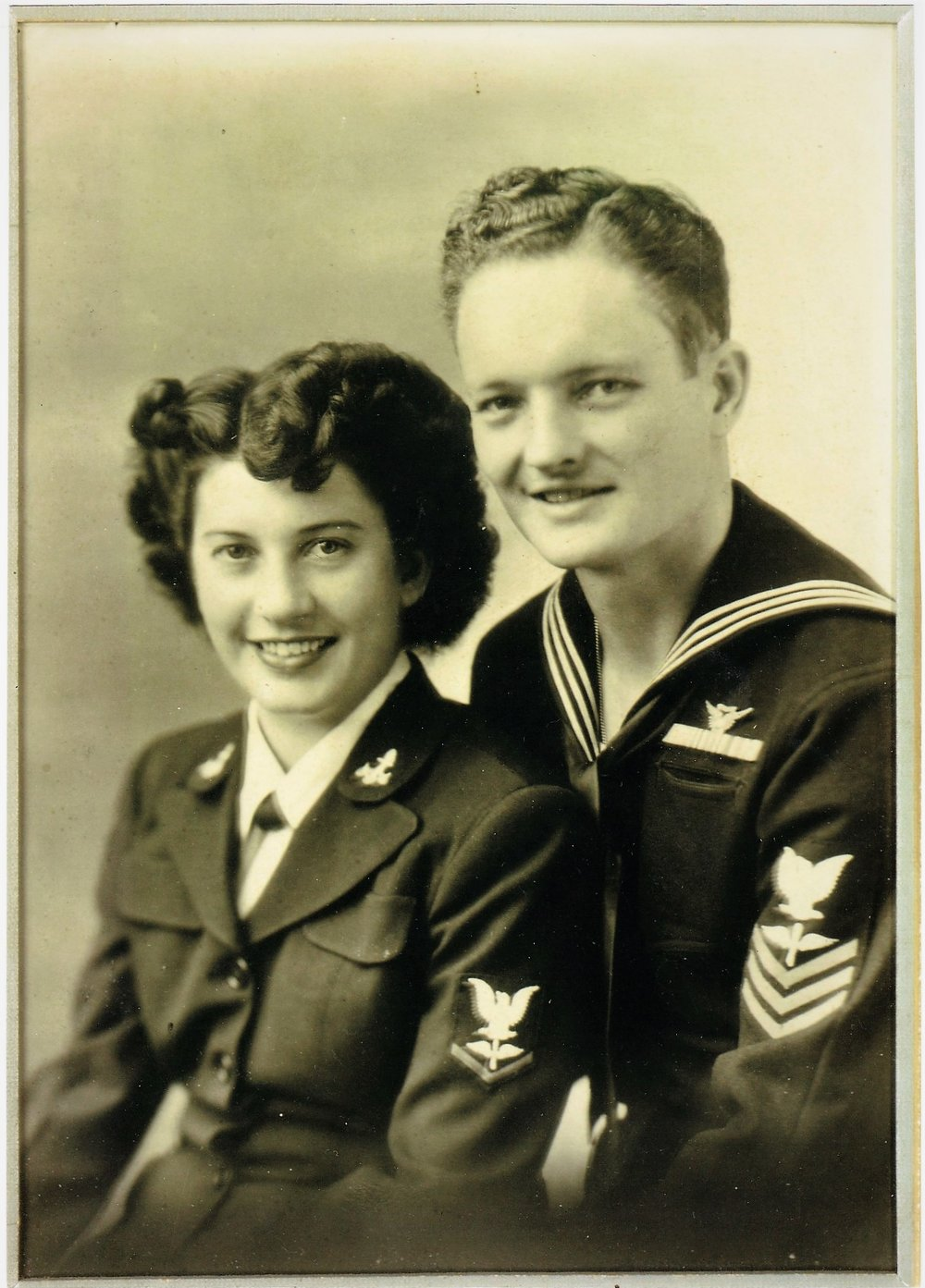 Gerry and Bill McKinley during their time in the Navy