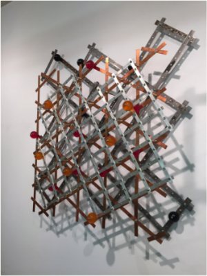 Frenzy, ©2009. Steel, copper, aluminum, epoxy, and pigments. Estate of Charles Fahlen