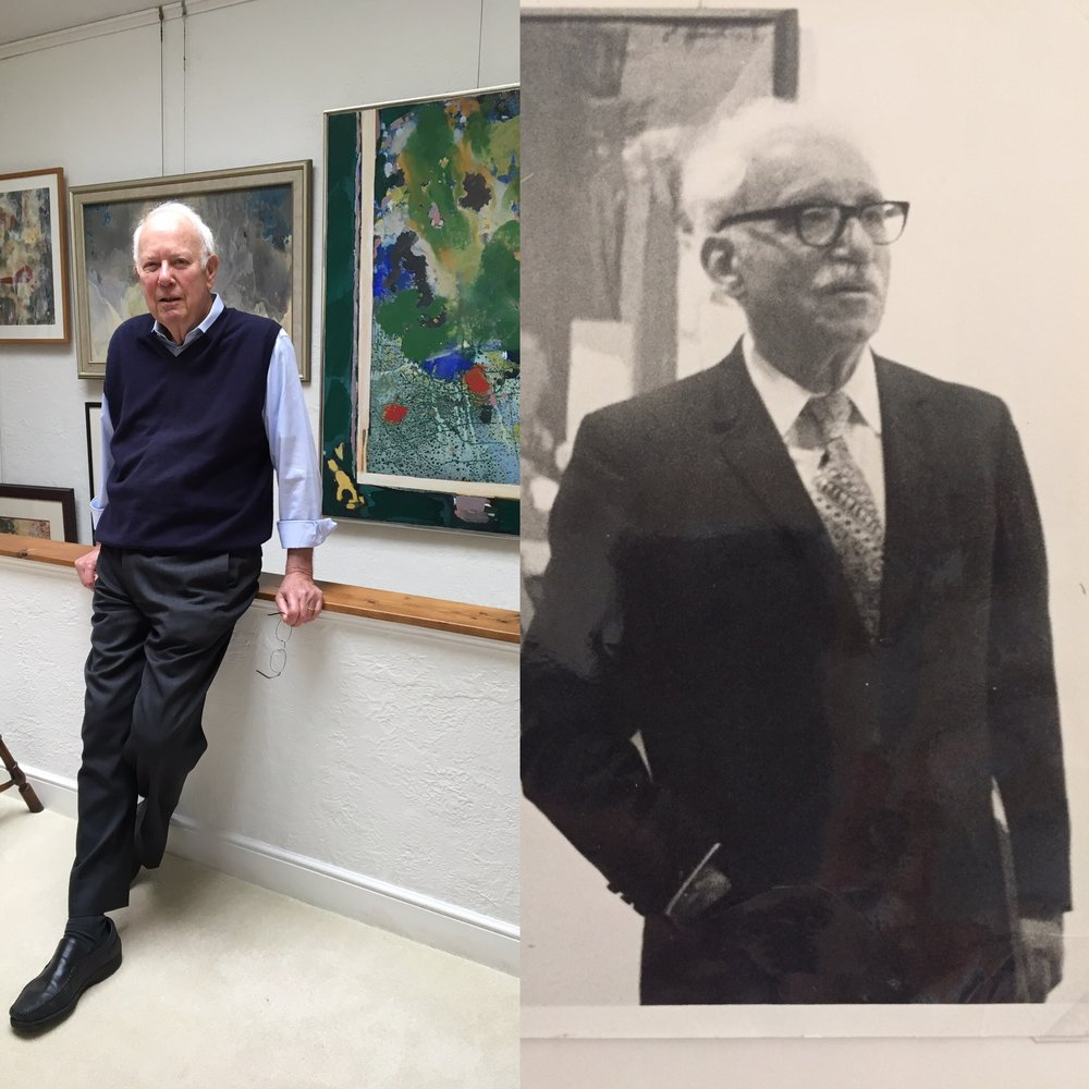 Left: Richard M. Buxbaum in his Berkeley home, September 2016 Right: Henry Buxbaum at the opening of Carl Heidenreich's exhibition, Goethe Institut, New York, 1971