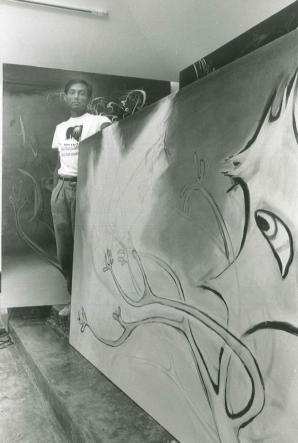 Ed in his studio. Courtesy of the Estate of Ed Aulerich-Sugai.