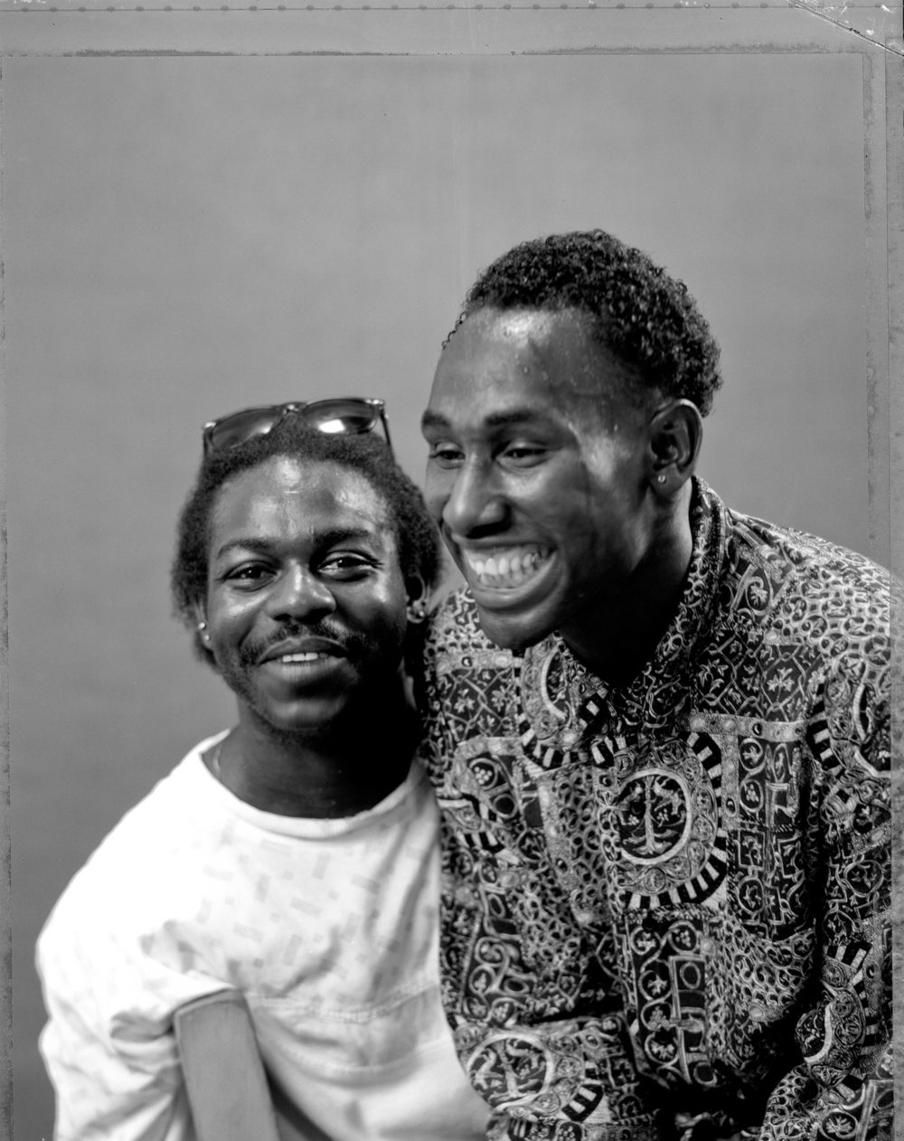 Jeannie O'Connor,  Lovers Laughing, Oakland , 1988. Silver gelatin print, 4 x 5 inches.