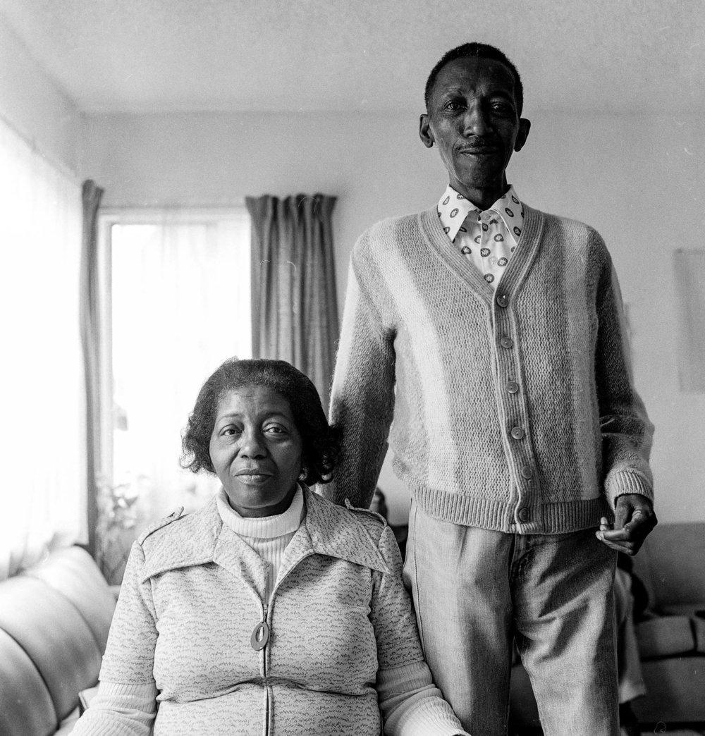 "Jeannie O'Connor, West Berkeley Senior Center portraits, ""Little Brother,"" 20 x 16 inches, silver gelatin print, 1984"