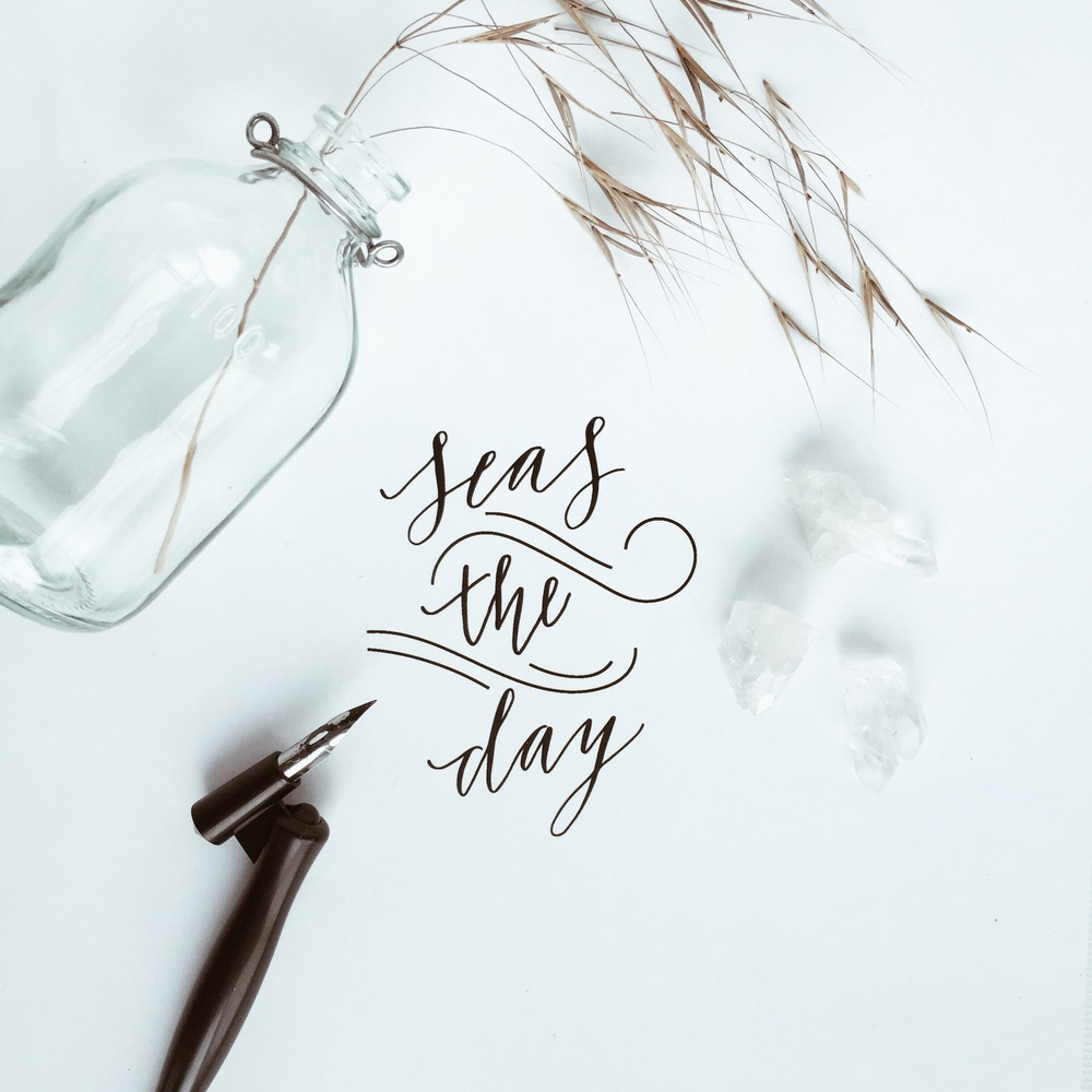 MARABOU DESIGN SEA THE DAY CALLIGRAPHY