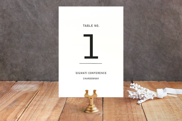 Feast Table Number Card
